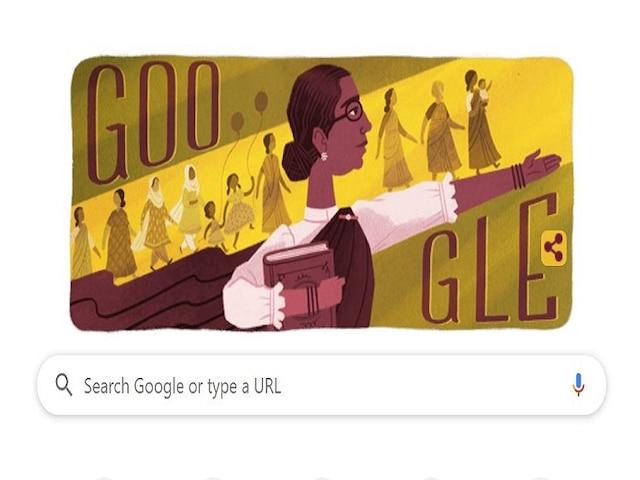 Google Celebrates 133rd Birth Anniversary Of India's First Woman Legislator Muthulakshmi Reddi With A Doodle