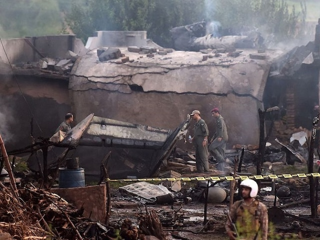 Pakistan Army Plane Crashes In Rawalpindi; Kills 17 People, Including Two Pilots