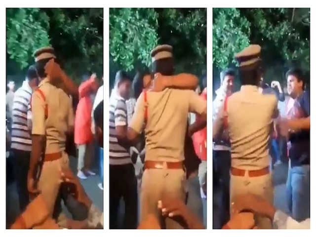 WATCH: Drunk Man Hugs, Kisses Hyderabad Cop On Duty; Gets Arrested