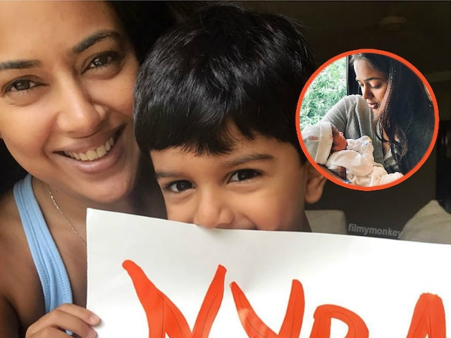 Sameera Reddy reveals the names of her newborn baby girl with son Hans, names daughter Nyra Varde!
