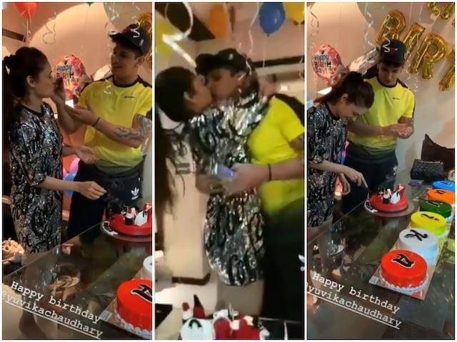 Prince Narula Celebrates Wife Yuvika's BIRTHDAY With 7 CAKES; Nach Baliye 9 Couple LOCK LIPS At The PARTY!