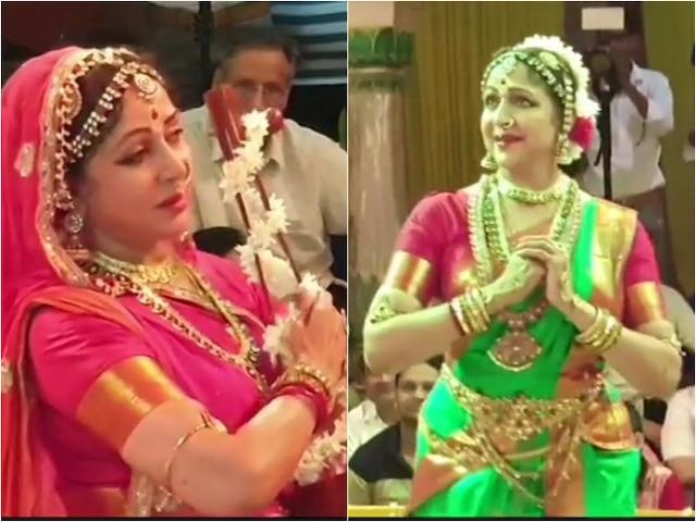 Hariyali Teej: BJP MP Hema Malini Graceful Dance At Sri Radha Raman Temple In Vrindavan