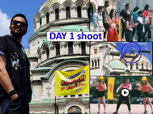 'Khatron Ke Khiladi 10' shoot Day 1 PICS-VIDEOS: Host Rohit Shetty kick starts shooting, Karan Patel shakes a leg, Dharmesh Sir dances during daredevil stunt!