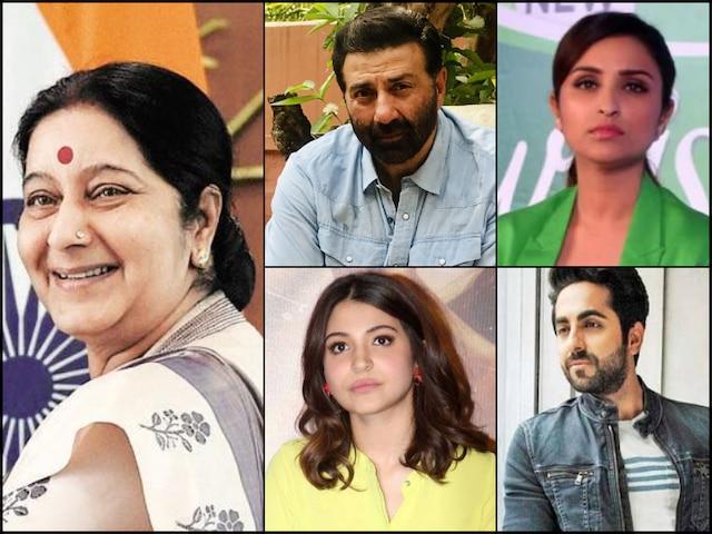 Sushma Swaraj death: Suuny Deol, Shabana Azmi, Javed Akhtar & Other Bollywood Celebs express condolence