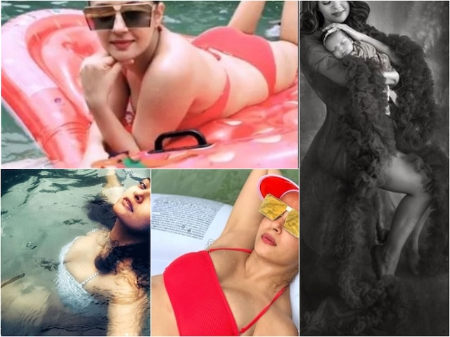 Sacred Games Actress Surveen Chawla In Red Bikini 3 Months After Giving Birth To Daughter Eva