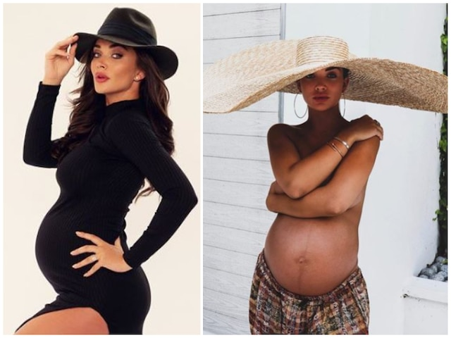 Amy Jackson Flaunts Huge Baby Bump As She Goes Topless in 33rd Week Of Pregnancy! See Picture!