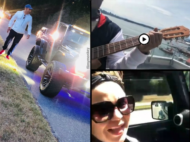 Kapil Sharma & Ginni Chatrath enjoying Babymoon with long drives, guitar playing in Cananda's Vancouver