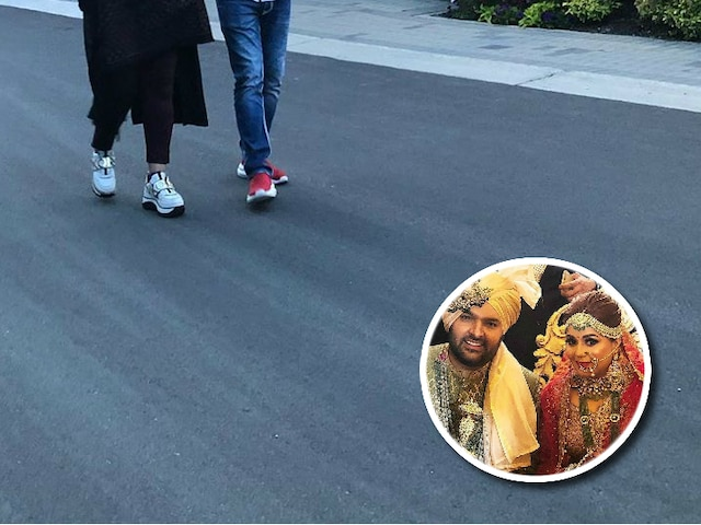 Kapil Sharma takes a stroll with pregnant wife Ginni Chatrath on Canada streets on their babymoon
