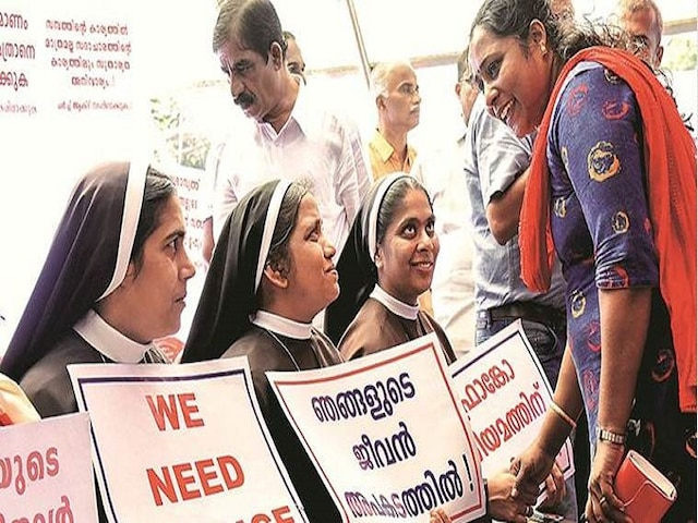 Kerala Nun Who Protested Against Rape Accused Bishop Expelled From Congregation For Her 'Lifestyle'