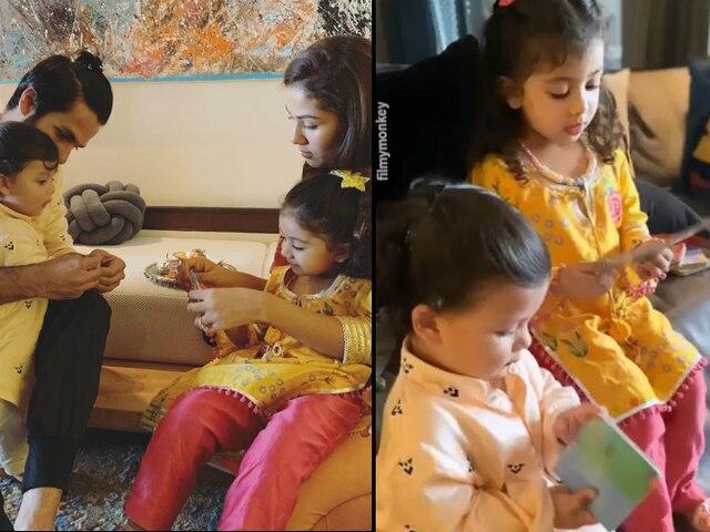 Raksha Bandhan 2019: Shahid Kapoor-Mira Rajput's daughter Misha ties rakhi to brother Zain Kapoor