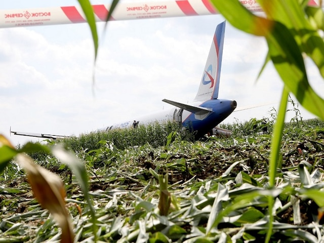 'I Didn't Feel Any Fear': Russian Plane Crash-Lands In Cornfield, Pilot Saves Life Of 233 On Board Passengers