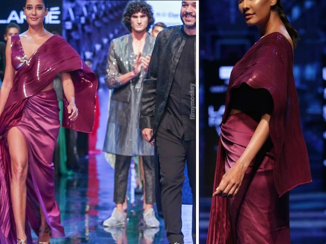 Hope to come back to movies after pregnancy: Lisa Haydon who walked the ramp at Lakme Fashion Week on Wednesday