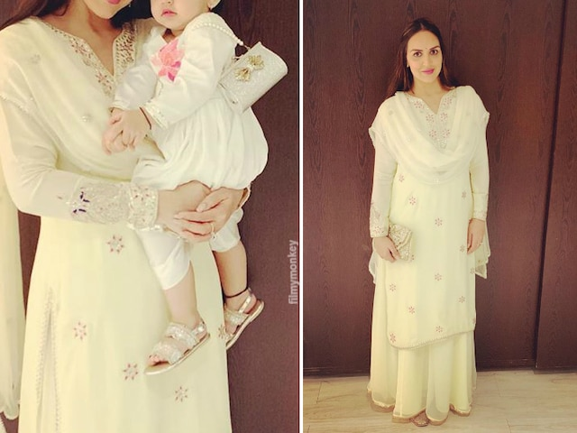 Janmashtami 2019: Esha Deol shares pic twinning with daughter Radhya Takhtani in white as they head for celebrations!