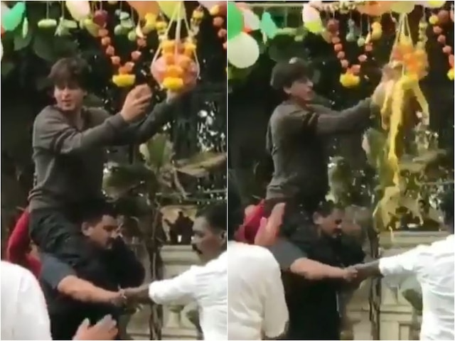 Janamashtami 2019: Shah Rukh Khan Breaks 'Dahi Handi' As He Celebrates The Festival In Full Spirit!