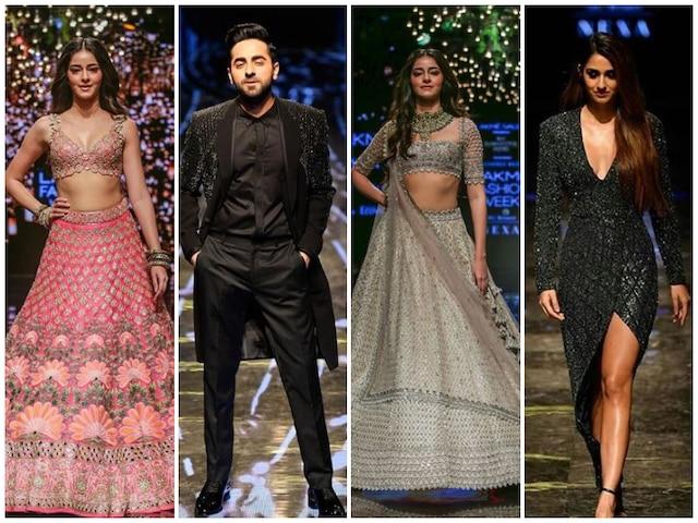 Lakme Fashion Week Day 4: Ayushmann Khurrana, Ananya Panday & Disha Patani Dazzle On The Ramp! See Pictures & Videos!