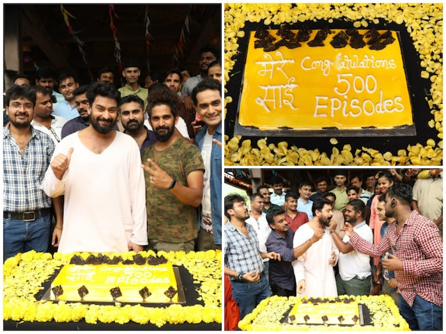 Sony TV's 'Mere Sai- Shraddha Aur Saburi' Completes 500 Episodes With Cake Cutting On Sets! See Pictures!