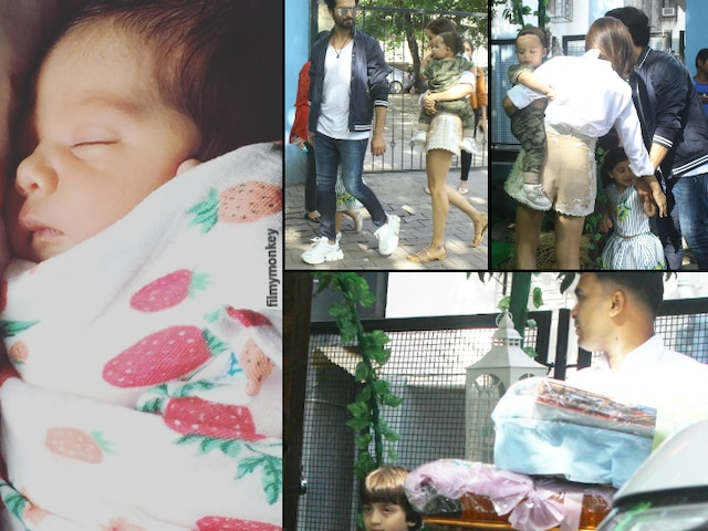 Shahid Kapoor-Mira Rajput's daughter Misha Kapoor's 3rd Birthday celebration, Arrives at party venue, SRK's son Abram Khan reaches too!