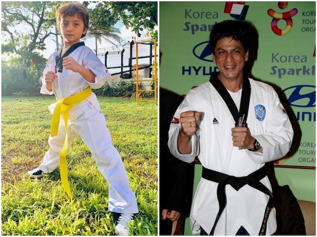 SRK's Youngest Son Abram Khan Continues Taekwando 'Tradition' In Khan Family, Proud Father Shah Rukh Celebrates His 'Yellow Belt'