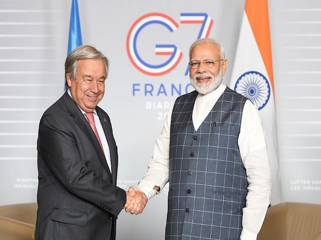 UN Chief Urges All Parties To Avoid Escalation In Kashmir During His Meeting With PM Modi