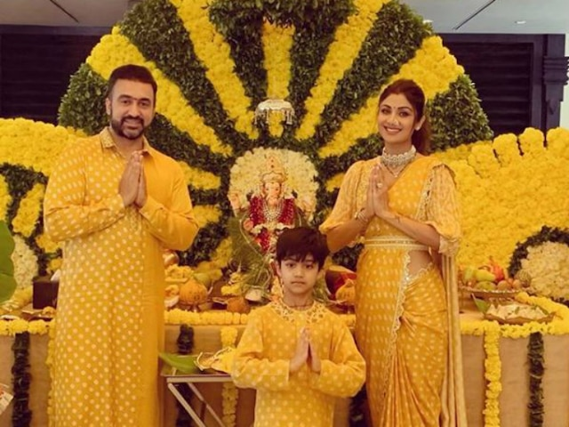 Ganesh Chatruthi 2019: Shilpa Shetty Reserves A Yellow Welcome For Ganpati! See Picture!