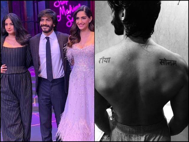 Harshvardhan Kapoor Gets Names Of Sisters Sonam Kapoor & Rhea Tattooed (See PIC)