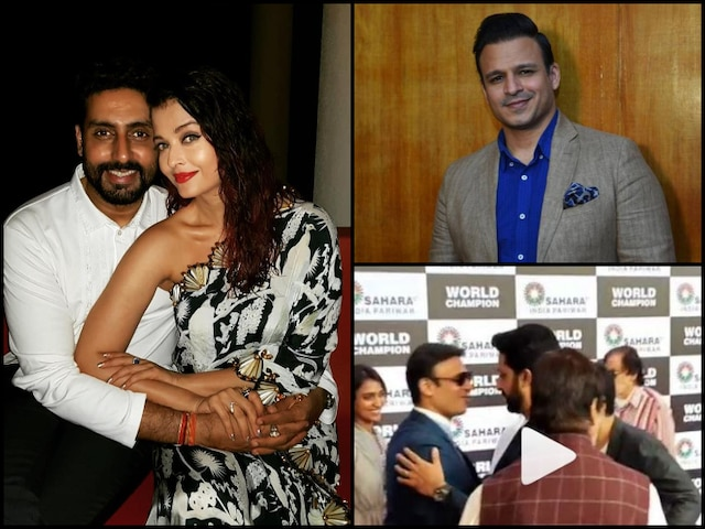 VIDEO: After Aishwarya Rai Meme Controversy, Abhishek Bachchan & Vivek Oberoi Come Face-to-face, Hug At Event