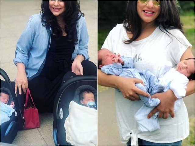 Sara Arfeen Khan Shares Adorable PIC Posing With Newborn TWINS When She Got Discharged From Hospital!