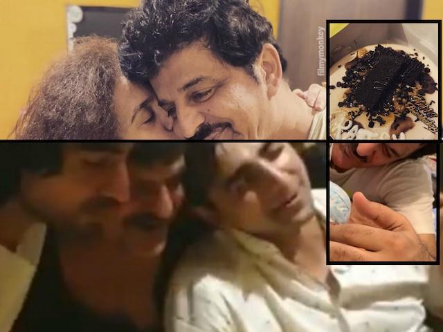 'Bepannah' actor & Shahid Kapoor's step father Rajesh Khattar celebrates Birthday with wife & TV show co-stars Harshad Chopda-Shehzad Sheikh