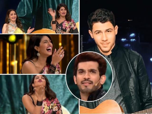 Dance Deewane 2: Nick Jonas' punjabi-avatar puts everyone in splits as Priyanka Chopra promotes 'The Sky Is Pink', Also dances to 'dola re dola' with Madhuri Dixit