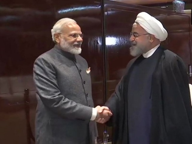 PM Modi Meets Iranian Prez Rouhani; Discusses Issues Of Mutual And Regional Interests