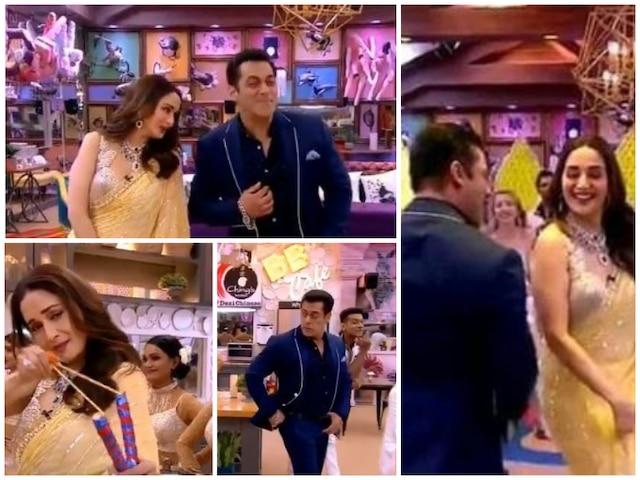 Bigg Boss 13: Salman Khan-Madhuri Dixit Hum Aapke Hain Kaun In Bigg Boss House!