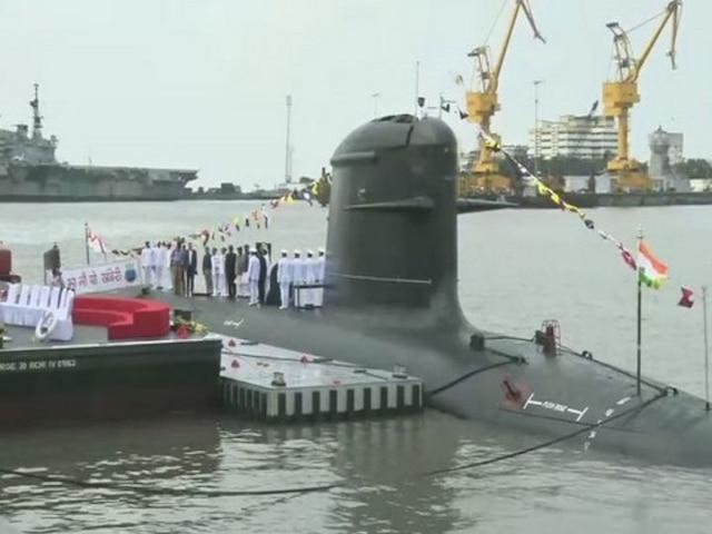 Second Kalvari-Class Submarine INS 'Khanderi' Joins Indian Navy