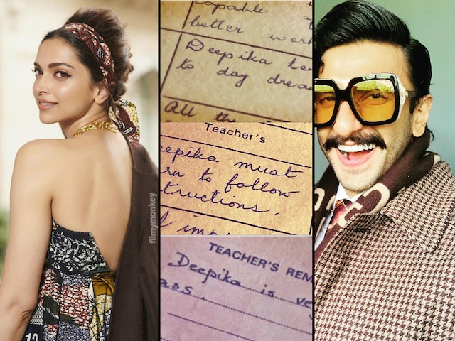 'Trouble maker' Deepika Padukone shares her school reports on social media, Ranveer Singh's reactions are epic!