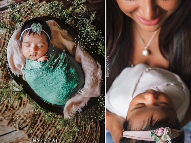 Sameera Reddy shares newborn daughter Nyra Varde's first clear picture from the latest photoshoot