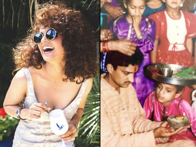 We bet you didn't know about thumb sucking habit of Kangana Ranaut! Sister Rangoli Chandel reveals posting fingers sucking throwback pic!