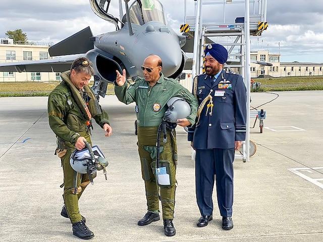 Rafale Fighter Jet Handover Rajnath Singh Paris Air Force Day Dussehra