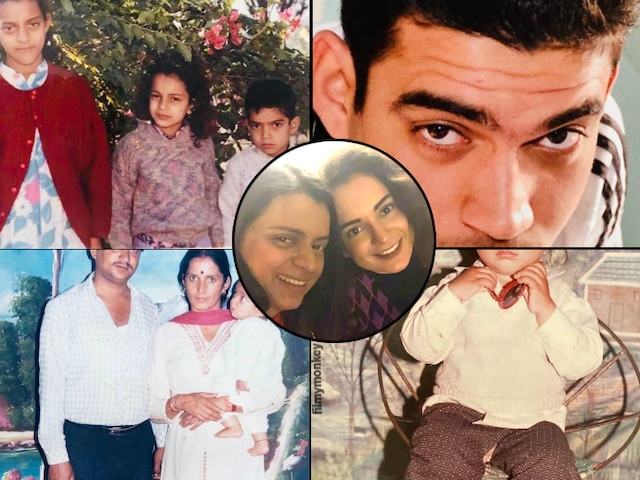 Kangana Ranaut's sister Rangoli Chandel reveals their younger brother Aksht Ranaut's childhood secrets on his birthday