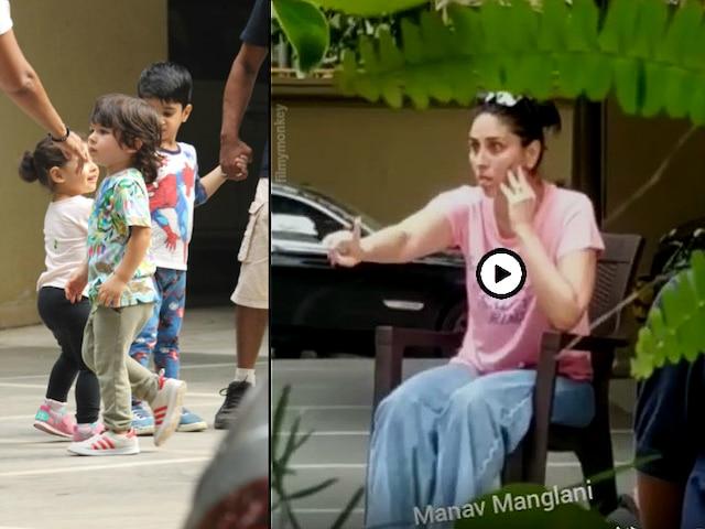 Pics-Video! Taimur Ali Khan's antics will win your hearts, Kicks and does high-five with mom Kareena Kapoor Khan at play date with cousin sister Inaaya Naumi Kemmu
