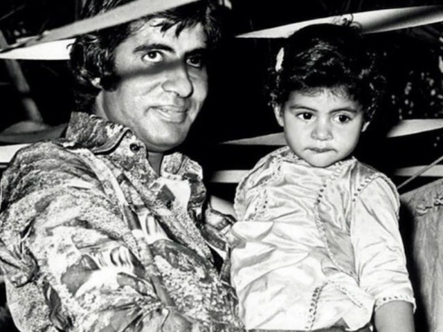 Have a look at Shweta Bachchan's pre-b'day post for dad Amitabh Bachchan