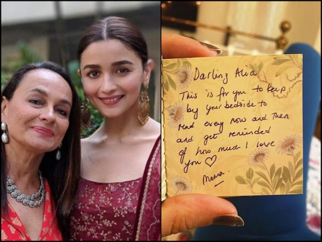 PIC: Alia Bhatt 'Terribly' Misses Mother Soni Razdan, Shares Her Handwritten Note