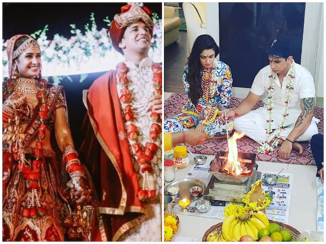 'Bigg Boss 9' & 'Nach Baliy 9' Couple Prince Narula & Yuvika Chaudhary Celebrate First Wedding Anniversary With A Small Puja! See Pictures!