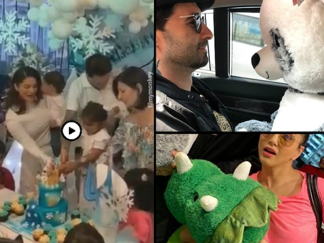 Sunny Leone & husband Daniel Weber celebrate daughter Nisha Kaur Weber's 4th Birthday! See Pics & Video!