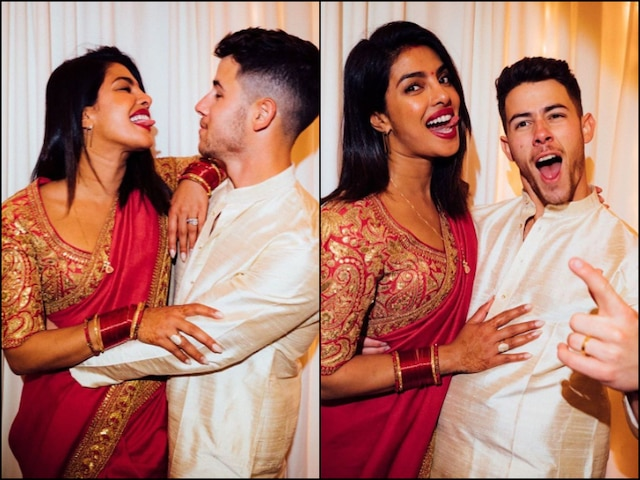 Nick Jonas Shares ADORABLE Pics With Priyanka Chopra From Karwa Chauth 2019
