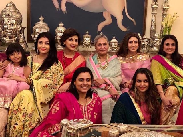 Karwa Chauth 2019: Here's How Aishwarya Rai Bachchan, Jaya Bachchan & Sonali Bendre Celebrated the Festival Together