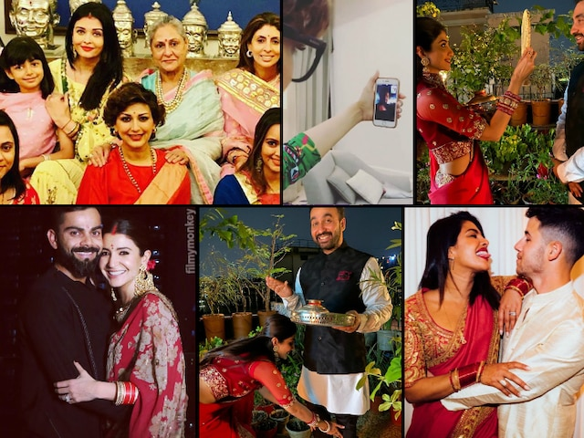 Anushka-Virat, Aishwarya Rai, Shilpa Shetty, Ayushmann-Tahira, Sonali-Bendre.. This is how Bollywood celebs celebrated Karva Chauth 2019