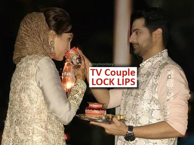 'Yeh Rishta Kya Kehlata Hai' fame Karan Mehra-Nisha Rawal lock lips during Karwa Chauth 2019 celebrations