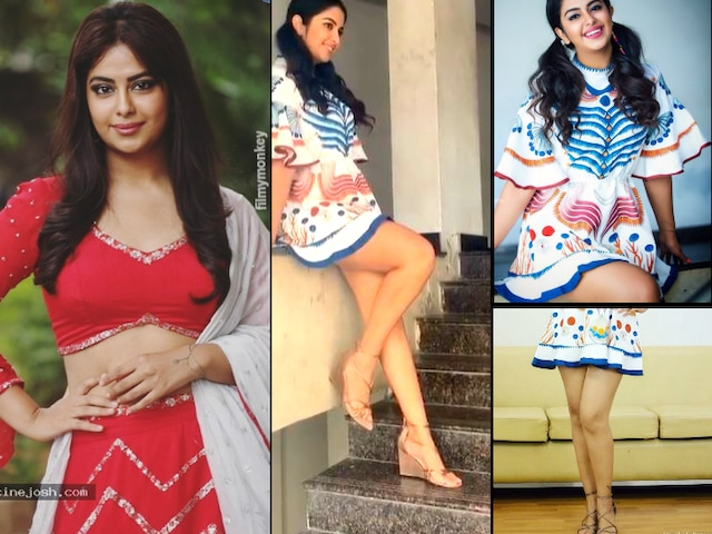'Sasural Simar Ka' actress Avika Gor looks chic and hot in a recent photo shoot donning a thigh high skirt with two ponytails