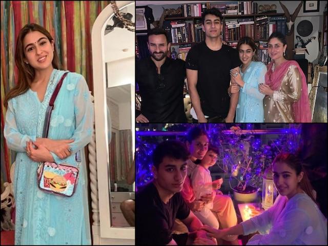Diwali 2019: Sara Ali Khan PICS with Saif, Kareena, Taimur Ali Khan, Ibrahim Ali Khan