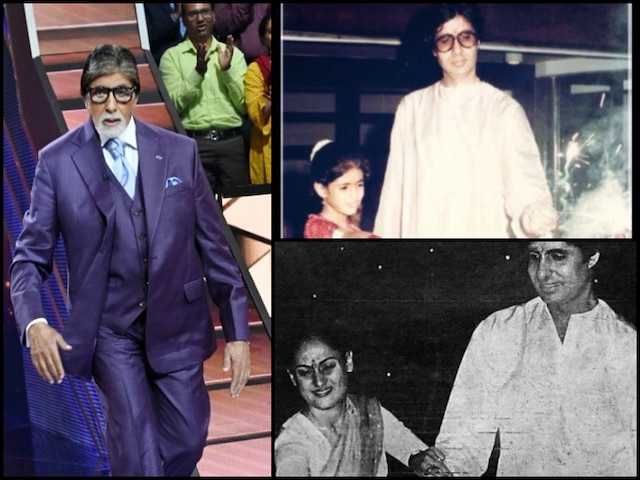 Diwali 2019: Amitabh Bachchan Shares THROWBACK Pics With Wife Jaya Bachchan & Daughter Shweta Bachchan Nanda Lighting 'Phuljhadi