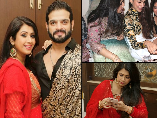 Is Karan Patel's wife Ankita Bhargava hiding her baby bump at their Diwali party? Fans strongly feel so.. Here's why! See PICS!
